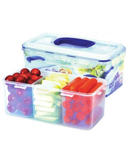 Lock & Lock: Rectangular Container 3.4 l with 3 Insets (HPL848CH)