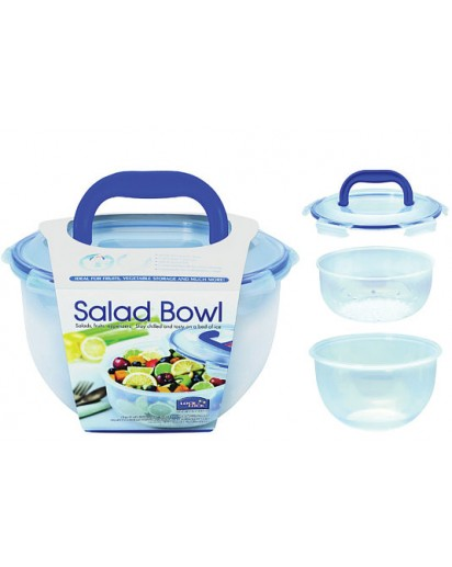 Lock & Lock: Salad Bowl with Drain Grate 4.0 l (HSM957T)