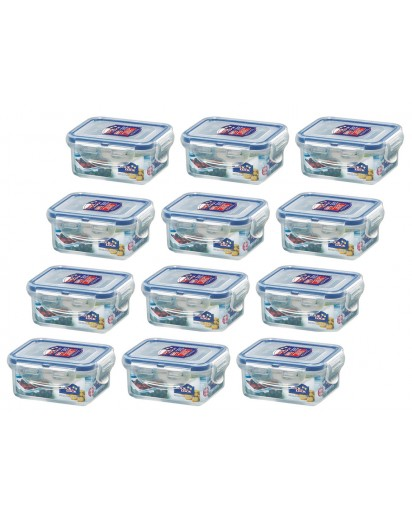 Lock & Lock: 12 x Container Rectangular 180 ml (HPL805/12)