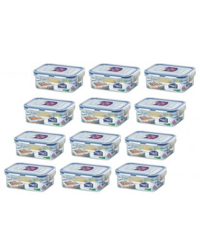 Lock & Lock: 12 x Container Rectangular 350 ml (HPL806/12)