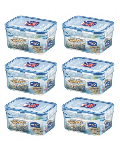 Lock & Lock: 6 x Container Rectangular 470 ml (HPL807/6)