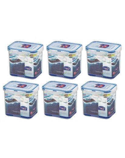 Lock & Lock: 6 x Container Rectangular 850 ml (HPL808/6)