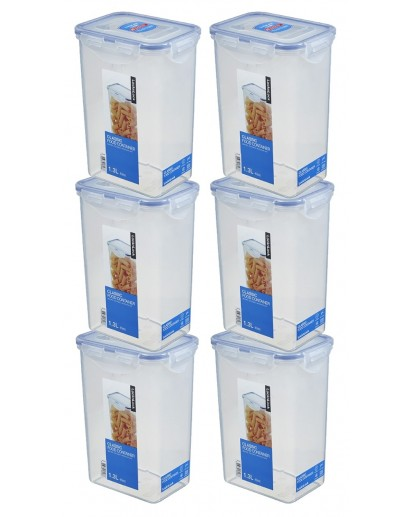 LocknLock: 6 x Container Rectangular 1.3 l (HPL809/6)