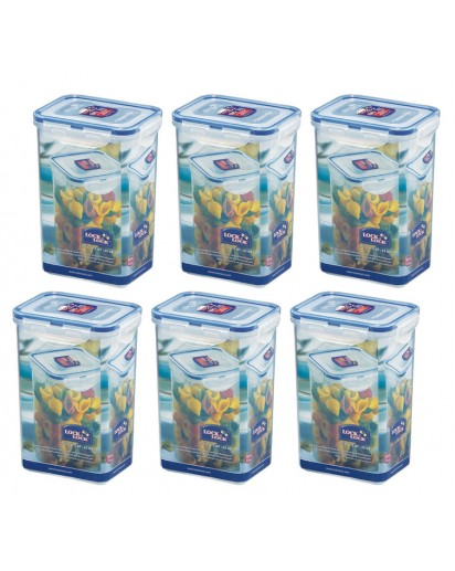 Lock & Lock: 6 x Container Rectangular 1.3 l (HPL809/6)