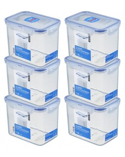 LocknLock: 6 x Container Rectangular 1.0 l (HPL812/6)