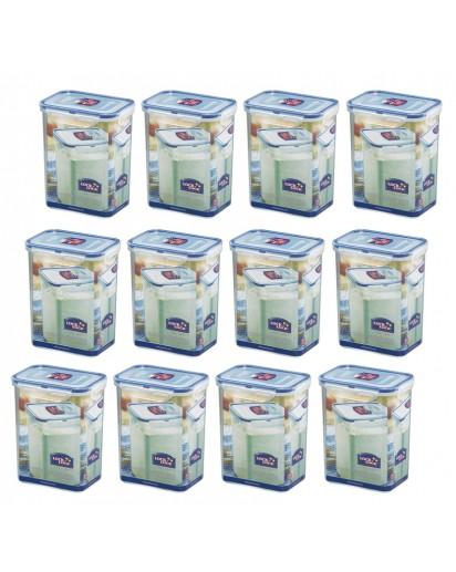 Lock & Lock: 12 x Container Rectangular 1.8 l (HPL813/12)