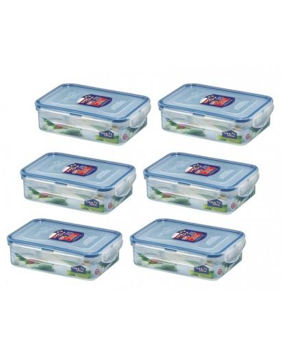 Lock & Lock: 6 x Container Rectangular 550 ml (HPL815/6)