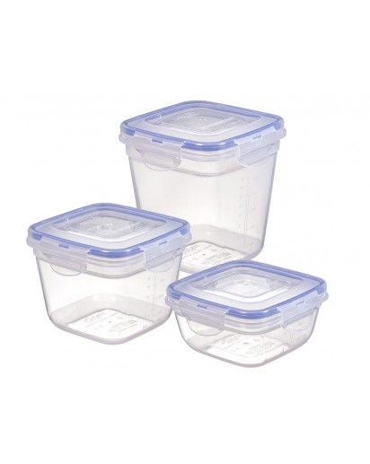 LocknLock: 3-Piece Set Containers Square (HSM8240S3)