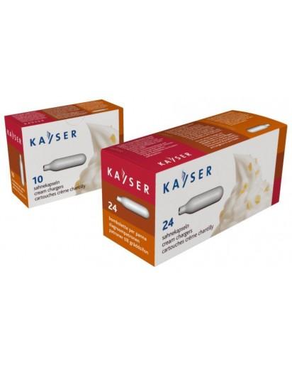 Kayser: N2O Cream Chargers - 24 Pcs