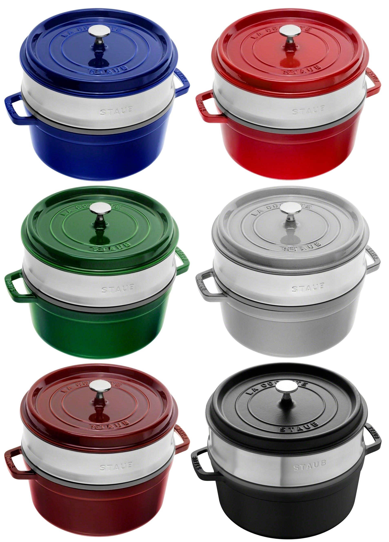 BetterKitchen.eu Online-Shop - Buy Round cocotte with steamer insert, 26 cm
