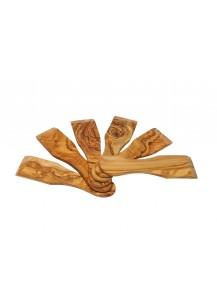 Raclette Spatula Olive Wood, 6 Pcs