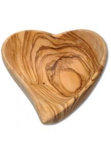 Bowl Heart Shaped Olive Wood