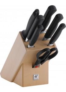 Zwilling: Pure Knife block, natural wood, 8 pcs.