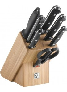 Zwilling: Twin Chef Knife block, bamboo, 8pcs.