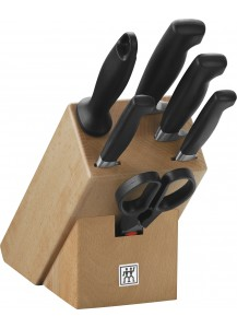 Zwilling: Four Star Knife block, natural wood, 7 pcs.