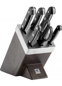 Zwilling: Gourmet Self-sharpening knife block, ash wood, 7-pcs.