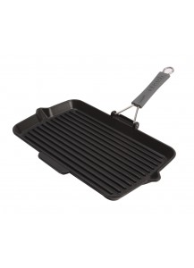 Staub: Grill pan, rectangular, 34 cm x 21 cm, black