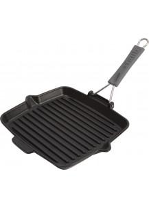 Staub: Grill pan, square, 24x24 cm, black