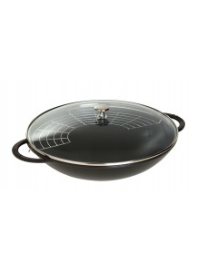 Staub: Wok with glass lid