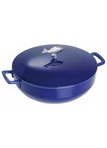 Staub: Bouillabaisse pot, 28 cm, dark blue