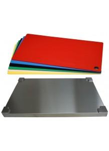 Selexions: Top Board Edelstahl Schneidebrett + 6 farb. Einlagen, GN1/1