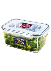 Lock & Lock: 6 x Container Nestable Rectangular 1.8 l (HPL322/6)