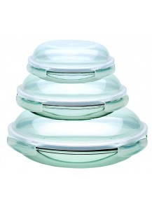 Lock & Lock: Set Containers Boroseal Dome Style (LLG885S3)