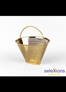 Selexions: GF4MB Gold Kaffee-Dauerfilter (Filter Nr. 4) aus Ganzmetall mit Metallbügel