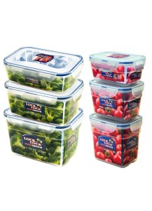 Lock & Lock: 6-Piece Set Containers Nestable Rectangular (HPL311S6)