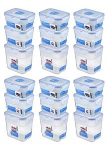 LocknLock: 18-Piece Set Container Nestable Rectangular (HPL313S3/6)