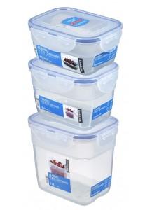 LocknLock: 3-Piece Set Containers Rectangular Nestable (HPL313S3)