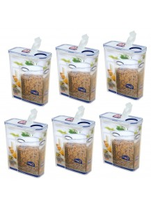 Lock & Lock: 6 x Container Rectangular with Flip-Top Lid 4.3 l (HPL714F/6)
