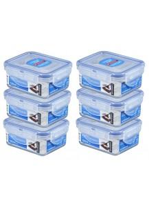 LocknLock: 6 x Container Rectangular 180 ml (HPL805/6)