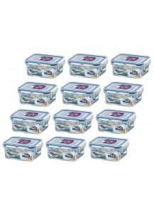 Lock & Lock: 12 x Container Rectangular 180 ml (HPL805/12)
