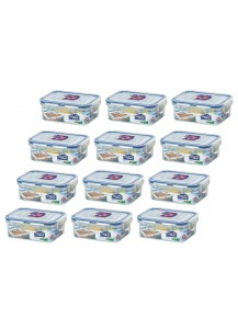 Lock & Lock: 12 x Container Rectangular 350 ml (HPL806/12)