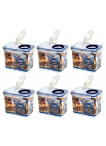 Lock & Lock: 6 x Container Rectangular with Flip-Top Lid 1.0 l (HPL812F/6)