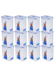 LocknLock: 12 x Container Rectangular 1.8 l (HPL813/12)