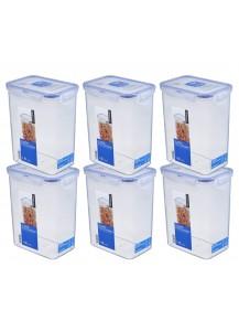 LocknLock: 6 x Container Rectangular 1.8 l (HPL813/6)