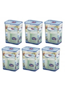 Lock & Lock: 6 x Container Rectangular 1.8 l (HPL813/6)