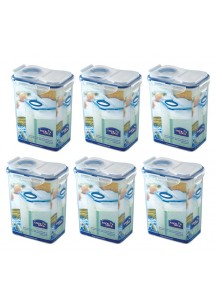 Lock & Lock: 6 x Container with Flip-Top Lid 1.8 l (HPL813F/6)