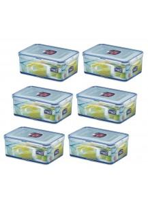 Lock & Lock: 6 x Container Rectangular 2.3 l (HPL825/6)