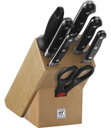 Zwilling: Professional 'S' Knife block, natural wood, 8 pcs.