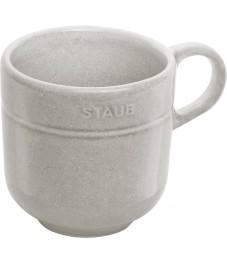 Staub: Tasse mit Henkel, weisser Trüffel