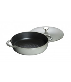 Staub: Multipurpose sauté pan with cast iron lid,  24 cm, grey