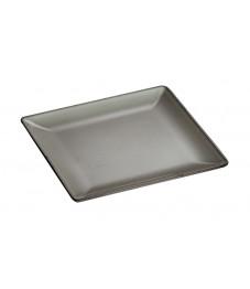 Staub: Square dinner plate, grey 24x24 cm