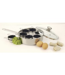 Demeyere: Gourmet pan 22 cm with 6 inserts