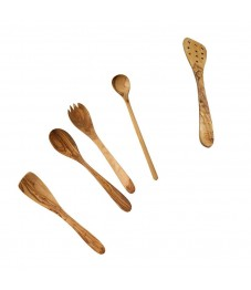 Kitchen Helper Set 5 Pcs Olive Wood