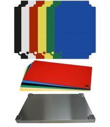 Selexions: Top Board Edelstahl Schneidbrett + 12 farb. Einlagen, GN1/1