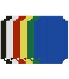 Selexions: Top Board Schneideinlagen Set, 6-farbig, randlos, 53x32,5cm GN1/1