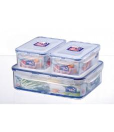 Lock & Lock: 3-Piece Set Containers Rectangular (HPL834SB)